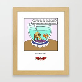 Fins Fairy Tails Framed Art Print