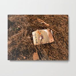 On What You Leave Behind Metal Print