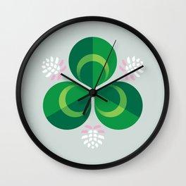 White Clover Wall Clock