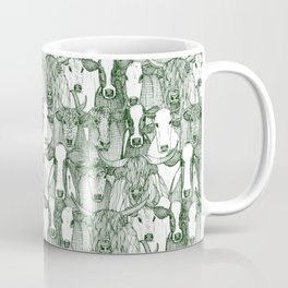 just cattle dark green white Coffee Mug