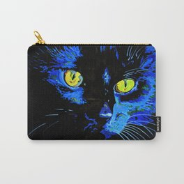 Marley The Cat Portrait With Striking Yellow Eyes Carry-All Pouch