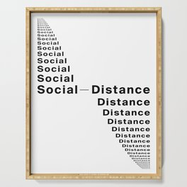 Social Distance Serving Tray
