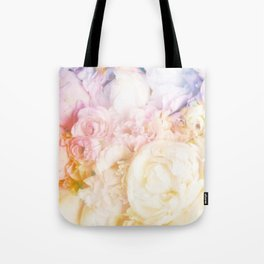 Style on a bed of peonies Tote Bag