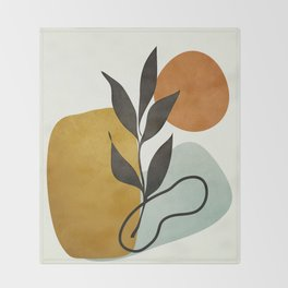 Soft Abstract Small Leaf Throw Blanket