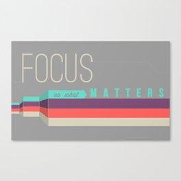 Focus Poster Canvas Print