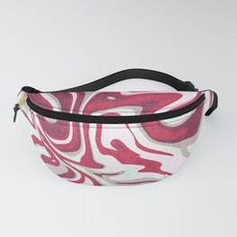 Abstract lines with shades of red fruits and green tea Fanny Pack