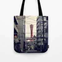 kobe Tote Bags featuring Kobe Cables by Dora