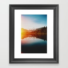 Lake Matheson Framed Art Print
