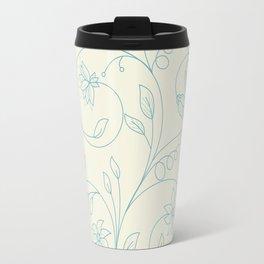Floral tenderness. Cute floral pattern in pastel colors. Travel Mug