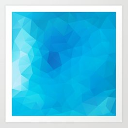 """""""Out of the blue"""" geometric design Art Print"""