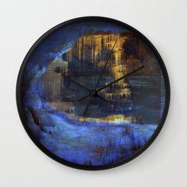 Cave 03 / The Interior Lake / wonderful world 10-11-16 Wall Clock