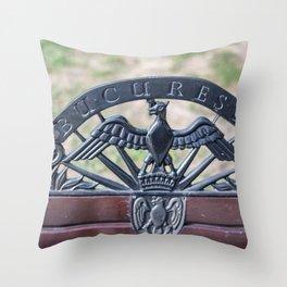 Rouamnia, Heroes Memorial, Bucarest Throw Pillow