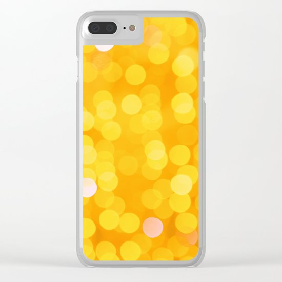 Disco Fever in Yellow Clear iPhone Case