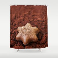 chocolate Shower Curtains featuring Chocolate by LebensART Photography