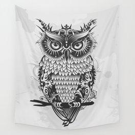 dark owl Wall Tapestry