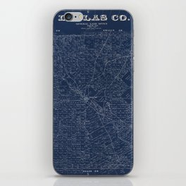 Map Of Dallas 1884 iPhone Skin