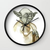 yoda Wall Clocks featuring YODA by carotoki