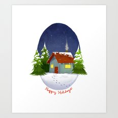 Happy Holidays 2012 Art Print