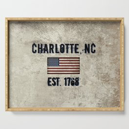 Tribute to Charlotte, NC, EST. 1768 Serving Tray
