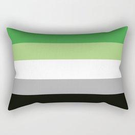 Aromantic flag 2 Rectangular Pillow