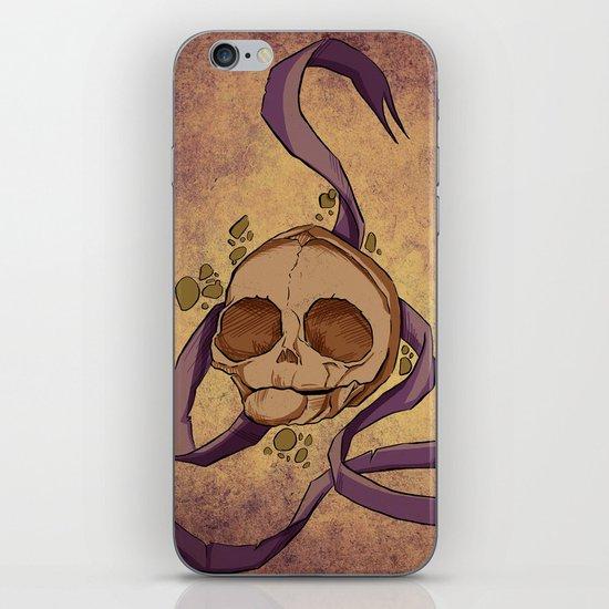 Skull and ribbon  iPhone & iPod Skin
