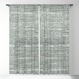Loopy in Pewter Sheer Curtain