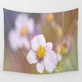 Anemone in the Garden Wall Tapestry