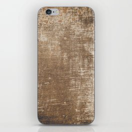 Cement Weathered Brown Abstract Photograph iPhone Skin