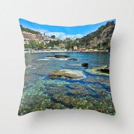 Taormina, Sicily I Throw Pillow