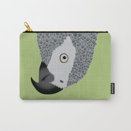 African Grey Parrot [ON SPRING GREEN] Carry-All Pouch