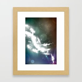 abstract background with highlights Framed Art Print