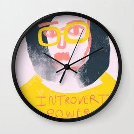 Introvert Power Wall Clock
