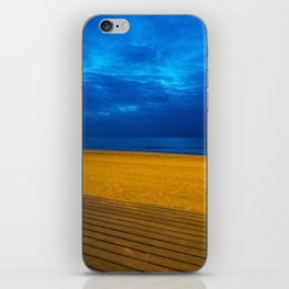 A night at the beach iPhone Skin