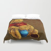 winnie the pooh Duvet Covers featuring Pooh by J ō v