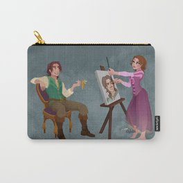 Tangled - Rapunzel Short Brown Hair and Flynn Rider Carry-All Pouch