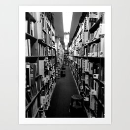 Books to the Ceiling Art Print