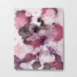 Organic Abstract in shades of plum Metal Print