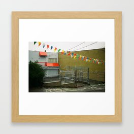 Vancouver Alley and Dealership Flags Framed Art Print