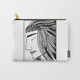 Native Indian Feathers Carry-All Pouch
