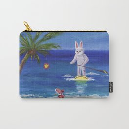 Easter Bunny at the Beach Carry-All Pouch