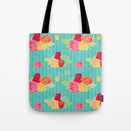 Rose Stripe Tote Bag