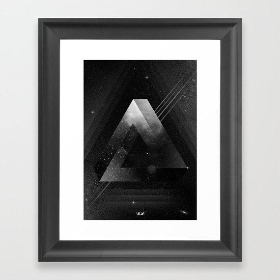 Triangle Framed Art Print