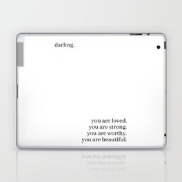 Darling, you are loved Laptop & iPad Skin