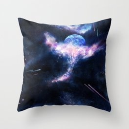 Space Scene Zero One Throw Pillow