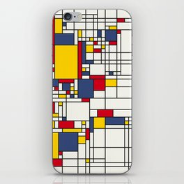 World Map Abstract Mondrian Style iPhone Skin
