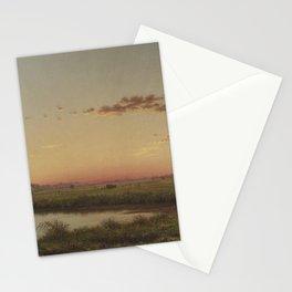 Martin Johnson Heade - Haystacks on the Newburyport Marshes Stationery Cards