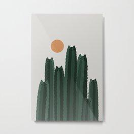 Cat and Plant 31 Metal Print