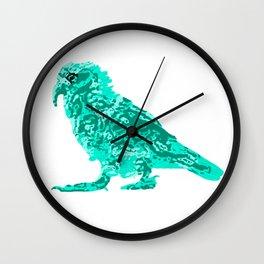 Kea Strut - Turquoise Wall Clock