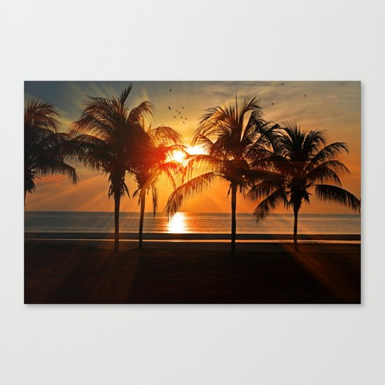 Sunset in the Tropical Islands Canvas Print