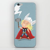 thor iPhone & iPod Skins featuring Thor by Rod Perich